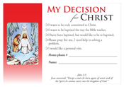 Decision Card - Baptism (100 Pack)