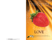 Fruit of the Spirit Bulletin Covers-Love (100 Pack)