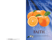 Fruit of the Spirit Bulletin Covers-Faith (100 Pack)