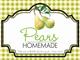 Gingham Quart Labels-Pears
