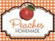 Gingham Quart Labels-Peaches
