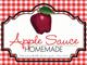 Gingham Quart Labels-Apple Sauce