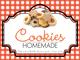 Gingham Quart Labels-Cookie Mix