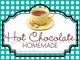 Gingham Quart Labels-Hot Chocolate