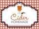 Gingham Quart Labels-Cider