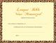 Award Certificates - Longest Memory Verse (10 Pack)