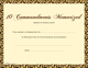 Award Certificates - Ten Commandments Memorized (10 Pack)